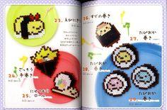 San X Sumikko Gurashi Chracters Made with Perler Beads - Japanese Craft Book Hamma Beads 3d, 3d Perler Bead, Diy Perler Beads, Pearler Beads, Fuse Beads, Melty Bead Patterns, Pearler Bead Patterns, Perler Patterns, Beading Patterns