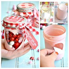 Valentine's Day Mason Jar Craft
