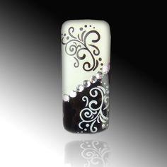Nail Art black and white Sticker! http://www.vw-e.de/nailart.html