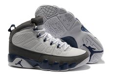 2012 Retro Mens Air Jordan 9 Sneakers (Grey/White)