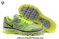 sports shoes a2bab f896d Discount 487982-107 Womens Grey Fluorescence Green Nike Air Max 2012 Cheap  For Sale Nike