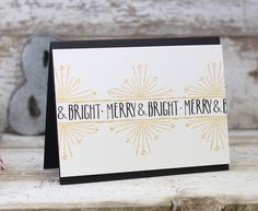 Merry & Bright Card by Laurie Willison for Papertrey Ink (September 2016)