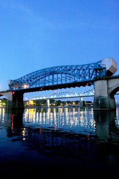 Bridges Across the Tennessee River, Chattanooga that would be the Market st and  Walnut St  Bridge
