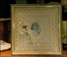 What Can You Do With Vintage HANKIES Handkerchiefs Frame a picture - very precious!