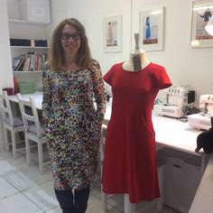 Sew over it knit dress. Nice lines with the pockets. Would be a nice colour block Sew Over It, New Class, Color Blocking, Colour Block, New Job, Knit Dress, Sewing Projects, Cold Shoulder Dress, Knitting