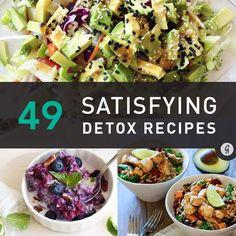 49 Detox Recipes (That Actually Contain Food) #healthy #detox #recipes