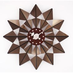 """Brown George Nelson Butterfly Clock  20"""" dia   138."""