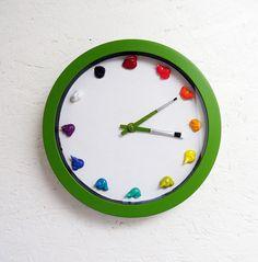 Artist Canvas Paint Clock  3D paint daubs  4 Color by RipdNTorn, $35.00