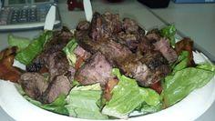 Day 9 lunch: BLT & steak salad
