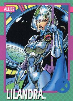 1992 Marvel Trade Card #88 LILANDRA