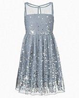 Ruby Rox Kids Dress, Girls Sequin Illusion Dress