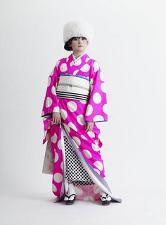 PINK KIMONO PROJECT silk, katazome March, 2011 / Tokyo, @btf / Exhibition WHY DON'T YOU PINK ?