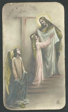 Vintage Holy Cards, Heart Of Jesus, Religious Images, Heaven And Hell, Eucharist, Prayer Cards, Western Art, Sacred Heart, Religion