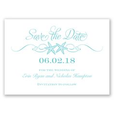 Sweetly Starfish - Pool - Save the Date | Invitations By David's Bridal
