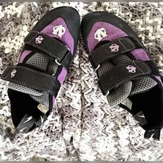 Rock Climbing Shoes! Rock Climbing Shoes... Women's  Great condition... Just has some sole wears, used no more than twice...  No flaws, other Han normal wear very comfy, fits tightly as Rock climbing shoes should ECo Trax Shoes