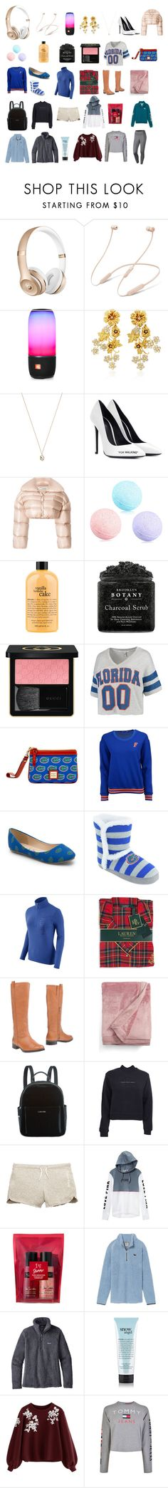 """""""Untitled #487"""" by savannahtaylor950 on Polyvore featuring Beats by Dr. Dre, JBL, Jennifer Behr, Eva Fehren, Off-White, philosophy, Gucci, chicka-d, Dooney & Bourke and nuyu"""