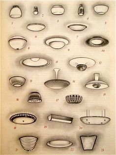 """LAMPS, from """"Lampen"""", a german book. check out others by clicking it. too bad no details for each lamp :("""