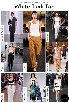 White Tank Top Fashion 2018 Trends, Spring Fashion Trends, Trendy Fashion, Fashion Tips, Trends 2018, Fashion Outfits, Work Fashion, Fashion 2017, Fashion Bloggers