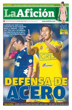 Portada La Afición Ed. Monterrey 10/03/14 DEFENSA DE ACERO