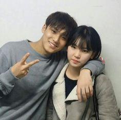 Mingyu with woozi sister