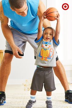 He's your buddy. Your favorite little man. Show him your love of the game by watching your favorite basketball teams … with a little playtime, too. Ahhh… memories in the making!