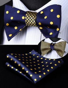 73928d40f7e0 Includes bow tie and pocket square - Bow Tie Style: Reversible Self Bow Tie