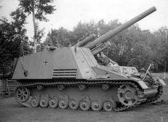 Late production of the 15 cm s.Panzerhaubitze auf Geschützwagen III/IV (Sf.) Hummel.