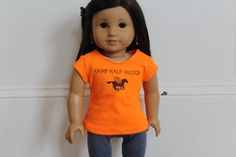 Camp HalfBlood Shirt for American girl dolls by azturpealean because im obsessed with percy jackson...would look soooo good on jessa...