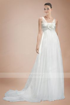 Absorbing A-line Bridal Dress with Charming Floral Embellishment