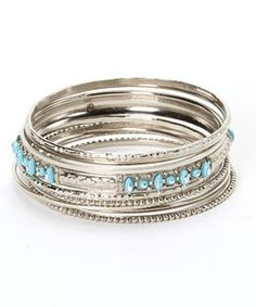 Sterling silver and turquoise bangles