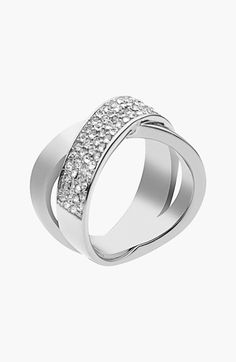 Michael Kors 'Brilliance' Crisscross Ring available at #Nordstrom
