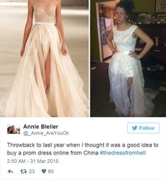 Throwback To Last Year When I Thought It Was A Good Idea To Buy A Prom Dress Online From China