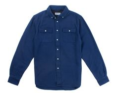 100% Cotton Heavy Twill  Standard Fit  Button-down Collar  Pleated Cuffs with Button