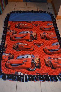 Cars sleeping bag tie blanket