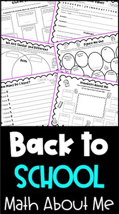 Looking for fun Back to School math activities. These 12 math activities are 'all about me' math for the first math lessons of the year! They are perfect math lessons for the beginning of the year for second grade, third grade and fourth grade. Perfect as a first day of school math activity or for the first week of school. Ideal as 'getting to know you' activities with a math focus. Includes activities for math centers, small groups and whole class activities. Get To Know You Activities, About Me Activities, Back To School Activities, Class Activities, School Ideas, New School Year, First Day Of School, Fourth Grade, Second Grade