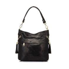 Genuine Leather Women's Snake Pattern Hobo Handbag
