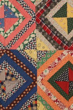 East Tennessee pieced quilt, detail seen at auction. 1st quarter 20th century.