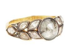 Cathy Waterman grey diamond ring