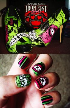Zombie nails inspired by Iron Fist Zombie Stomper Platforms  Iron Fist Clothing  IF Ladies  ironfistclothing.com