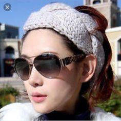 Nwt Red Braided Knit Headband