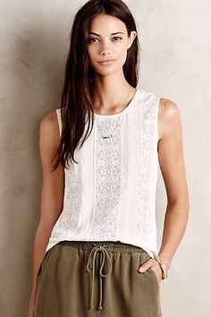 Lace Lane Tank #anthropologie