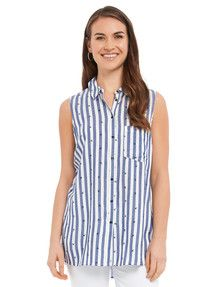 Zest Weekend Stripe Palm Shirt product photo