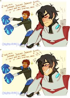 This is so cute omg also it has come to my knowledge that both Keith and Lance's VA can sing if they don't do a duet at some point imma holler
