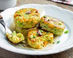 Pancakes légers aux petits légumes et au fromage