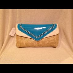 "Jessica Simpson Envelope Clutch/Cross Body Hybrid 11""(W)x6 1/2"" This bag can be worn as a cross-body (perfect for summer festivals!) or carried as a clutch with the strap easily tucked inside. Brand Spanking New! Jessica Simpson Bags Crossbody Bags"