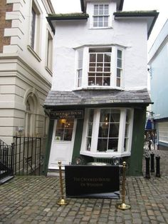 I'VE ACTUALLY BEEN TO THIS TEA ROOM IN ENGLAND...The Crooked House. English Tea Room, Windsor. UK