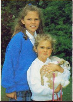 Crown Princess Victoria of Sweden with her little sister Princess Madeleine of Sweden