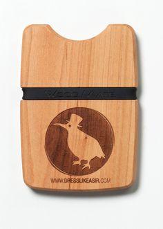 EINZELSTÜCK der Archetype Apparel WOOD.MATE-Brieftasche #wood #wallet #handcrafted #apparel