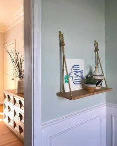 North Shore Green by Benjamin Moore Room Colors, House Colors, Paint Colors, Floating Nightstand, Floating Shelves, Orlando Soria, House Shelves, Outside Living, Benjamin Moore