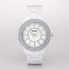 White Fossil Watch